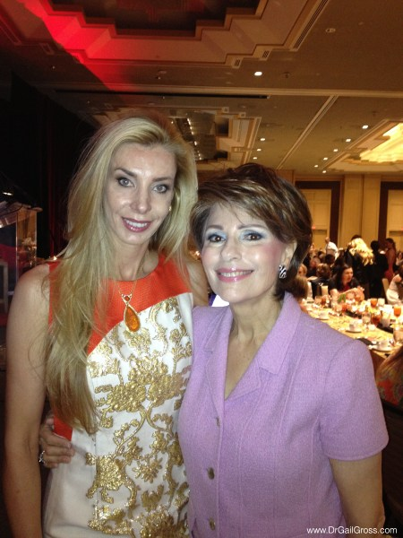 Dr Gross and Melani Walton at the Arizona Foundation for Women Sandra Day O'Connor Luncheon 2013