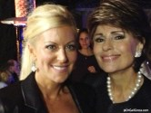 Dr. Gail Gross with Renee Parsons, wife of GoDaddy CEO Bob Parsons, at the Parsons' Anniversary Party 2013.