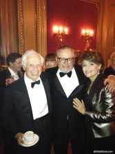 Dr. Gail Gross with husband Jenard (far left) and GoDaddy CEO Bob Parsons (center).