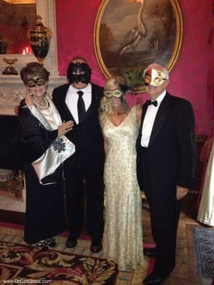 Masquerade ball with my husband Jenard (far right) and Bob and Renee Parsons.