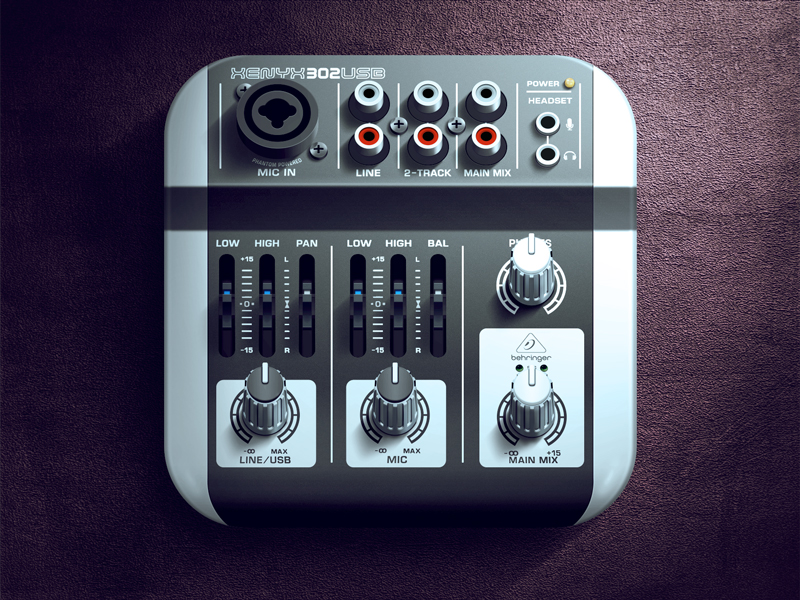mixer ios icon 30 Highly Skeuomorphic Icon Designs With Incredible Detail