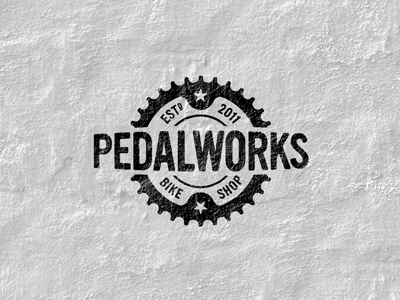 pedalworks logo 20 Stylish Retro Logos | Inspiration