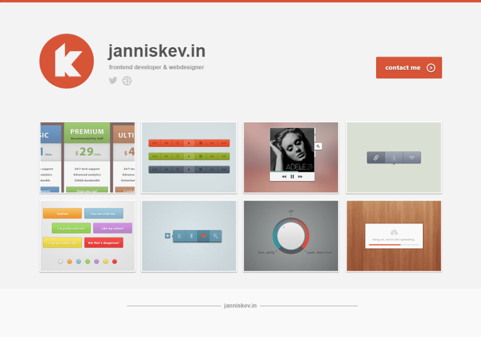 Orange full 15 Stylish Examples of Portfolio Web Design | Inspiration
