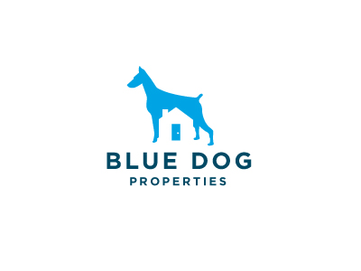bluedog 400x300 30 Clever Examples of Negative Space Logos