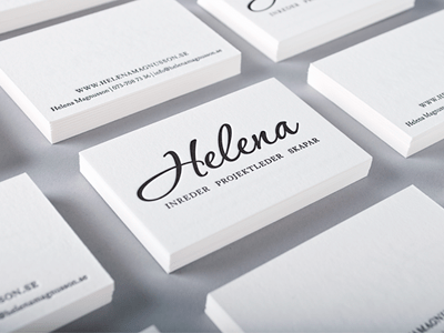 visitkort helena 10 Minimal Business Card Designs | Inspiration