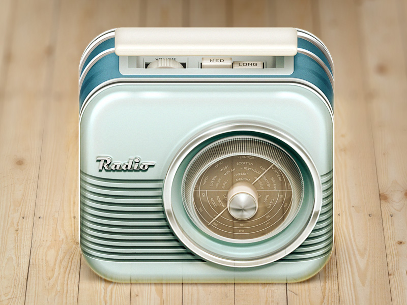 radio ios icon hres 30 Highly Skeuomorphic Icon Designs With Incredible Detail