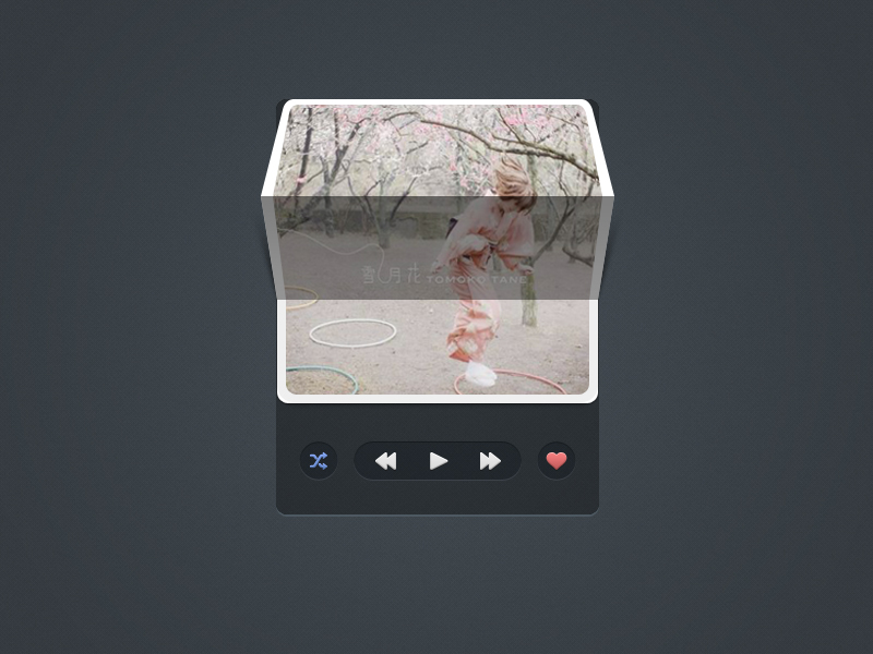 miniplayer 20 Gorgeous Music Players from Dribbble