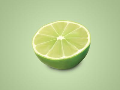 lime 25 Gorgeous 3D Fruit & Vegetable Illustrations