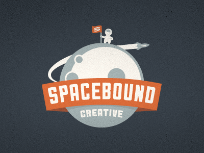spacebound creative logo  final 20 Stylish Retro Logos | Inspiration