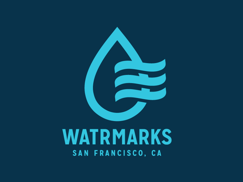 watrmarks logo 20 Beautiful Water Inspired Logos