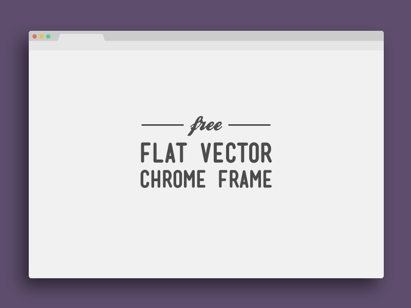 chrome frame 8 Fantastic & Free Browser PSDs