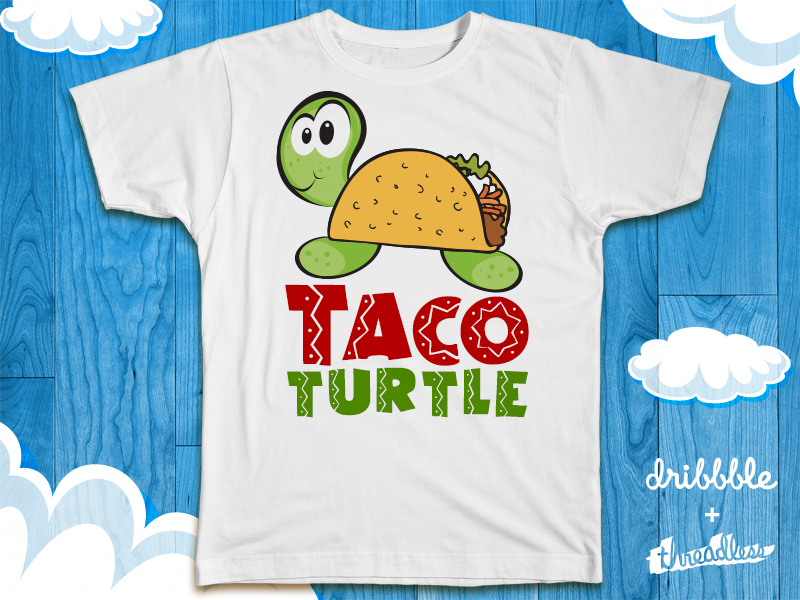 taco turtle dribbble 40 Incredible T Shirt Concepts for Inspiration