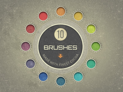 dribbblespecklesbrushes 12 Beautiful Free Grunge Brush Sets from Dribbble