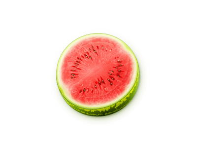 watermelon 25 Gorgeous 3D Fruit & Vegetable Illustrations