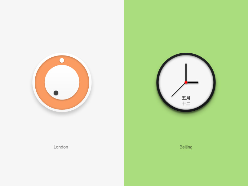 world time 20 Awesome Graphically Designed Clocks
