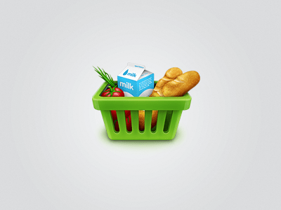 basket ico 20 Extraordinary Icons of Food | Inspiration