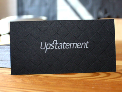upstatement cards dribbble back 15 Sleek Examples of Black Business Cards