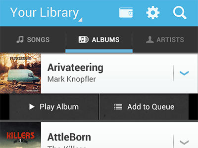 dribbble albums Android Apps Using Holo Theme | Concepts