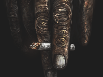 hand 1x 25 Breathtaking Digital Paintings from Dribbble
