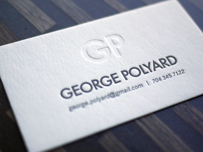 george polyard 10 Minimal Business Card Designs | Inspiration