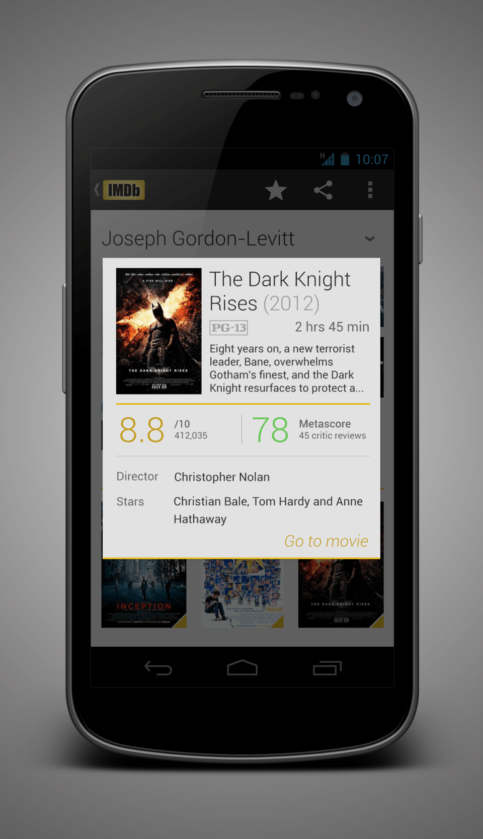 paulburke imdb redesign Android Apps Using Holo Theme | Concepts