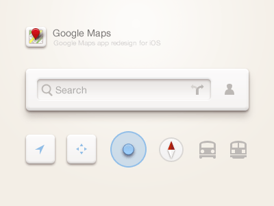 google maps 20 Brilliant Examples of Skeuomorphic UI Design