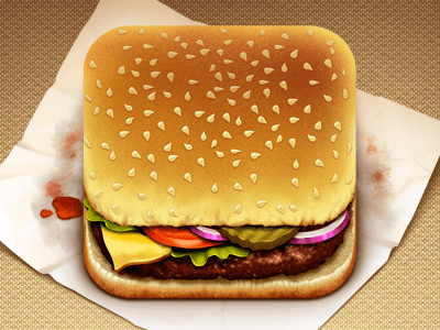 hamburger app 20 Extraordinary Icons of Food | Inspiration