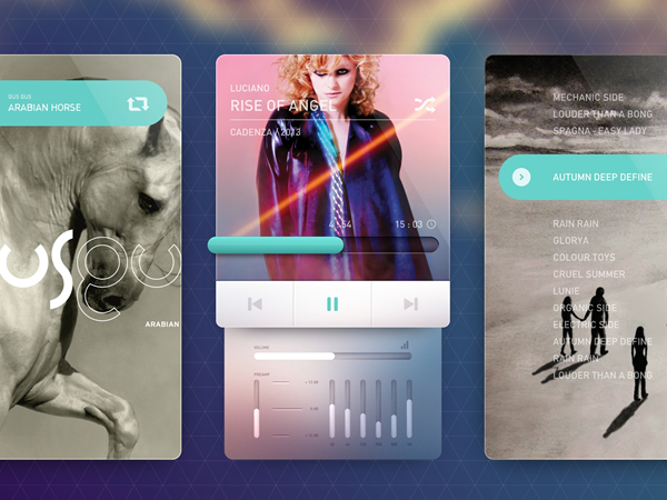 Music Player Bigger 20 Gorgeous Music Players from Dribbble