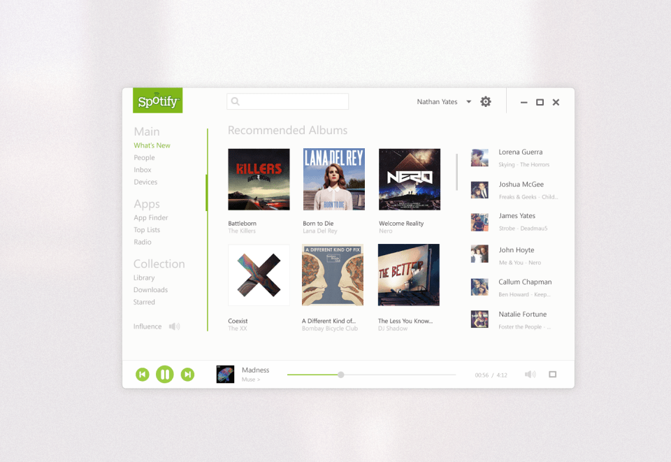spotify pixels Flat   The New Design Trend for 2013