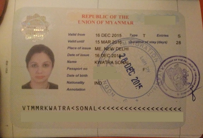 myanmar visa application Super urgent (1 working hour - available in the afternoon of weekdays) extra services: private visa approval letter.