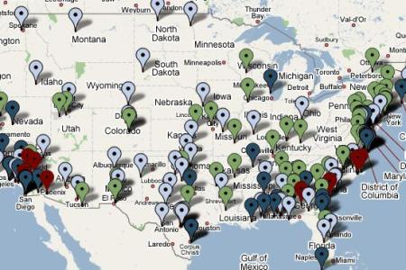 Map Of Us Military Bases In Us - Map of us army forts