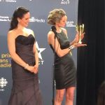 Anna Silk and Zoie Palmer at Canadian Screen Awards 2014 (Source: Eye on Canada)