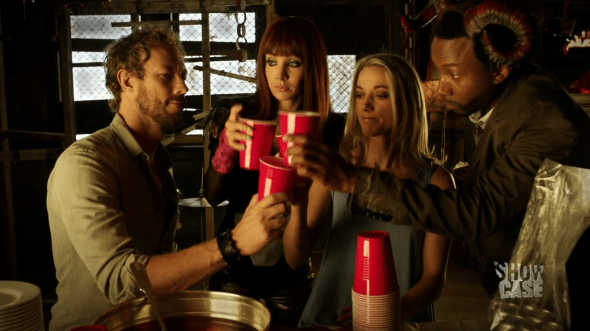 Dyson, Kenzi, Lauren and Hale Cheers in Groundhog Fae