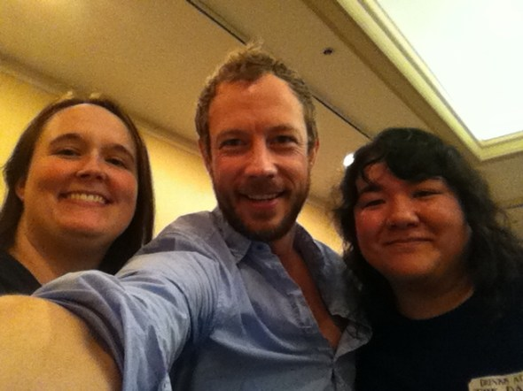 Kris Holden-Ried, Stephanie and Kris at Tyler Rose City Comic Con