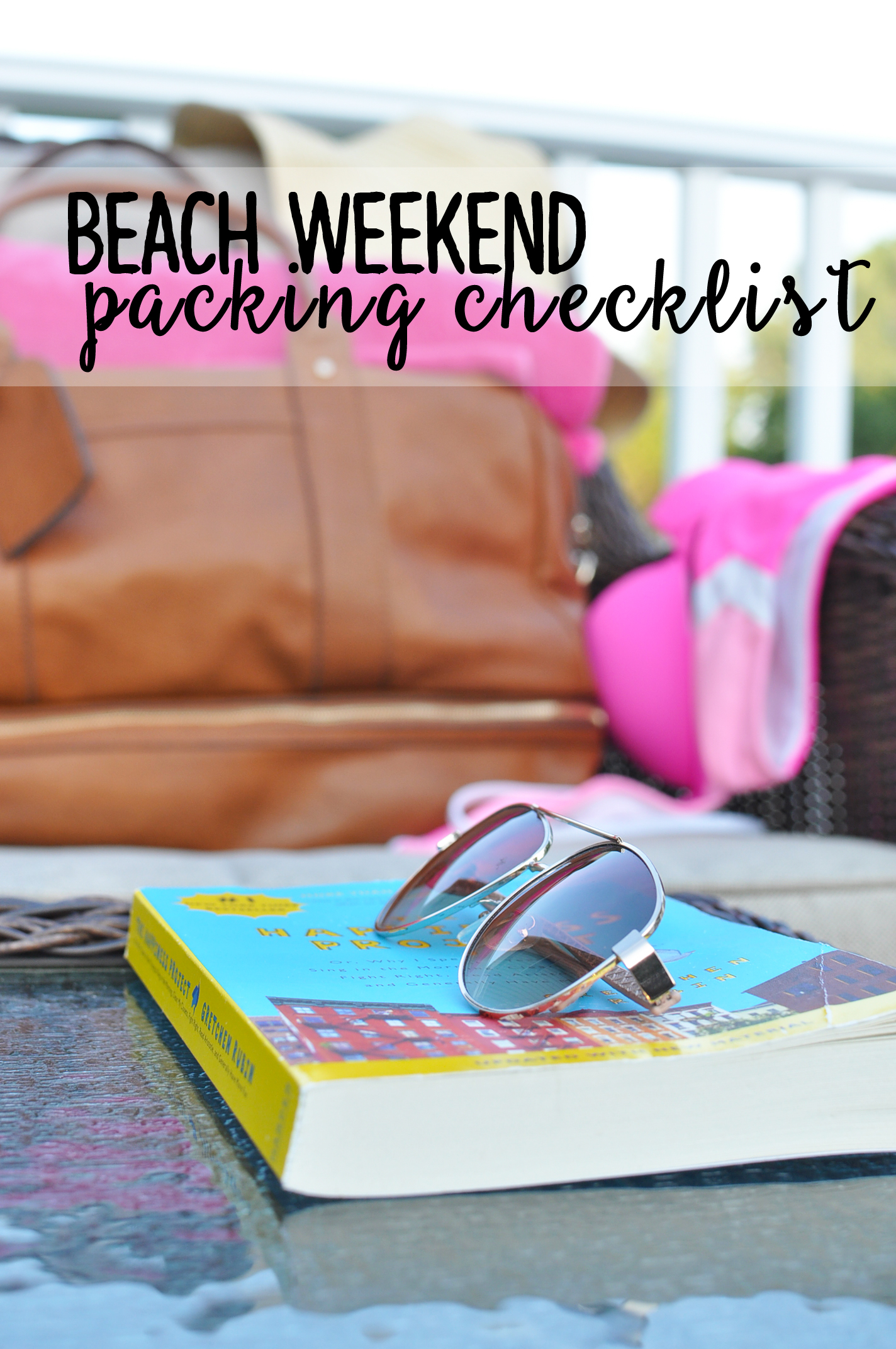 Beach Weekend Packing Checklist | Drink the Day