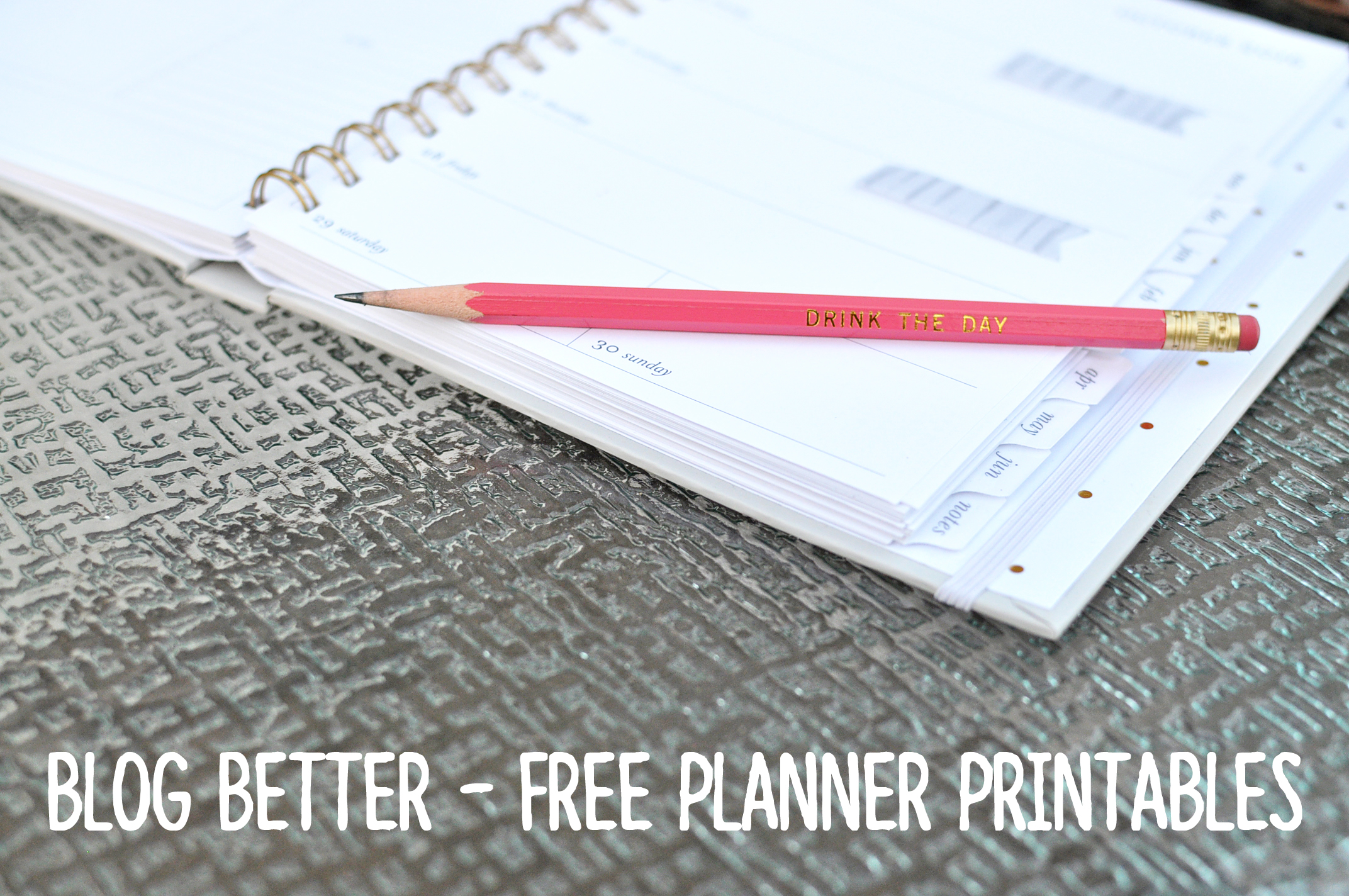 Blog Better: Free Planner Printables | Drink the Day