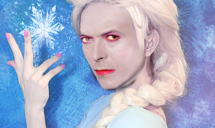 Exclusive Bowie Frozen Photo