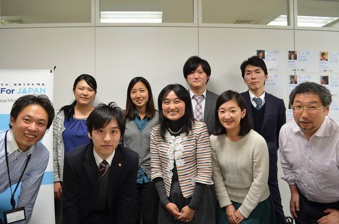 Teach for Japanの仲間たちと。左から三番目が五十嵐剛志さんTeach for Japanの仲間たちと。左から三番目が五十嵐剛志さん