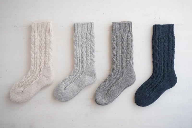 わざわざオリジナルのアランウール靴下(画像提供:わざわざ)