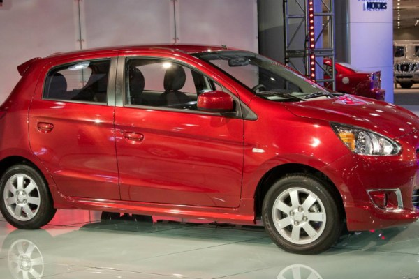 2014 Mitsubishi Mirage Red