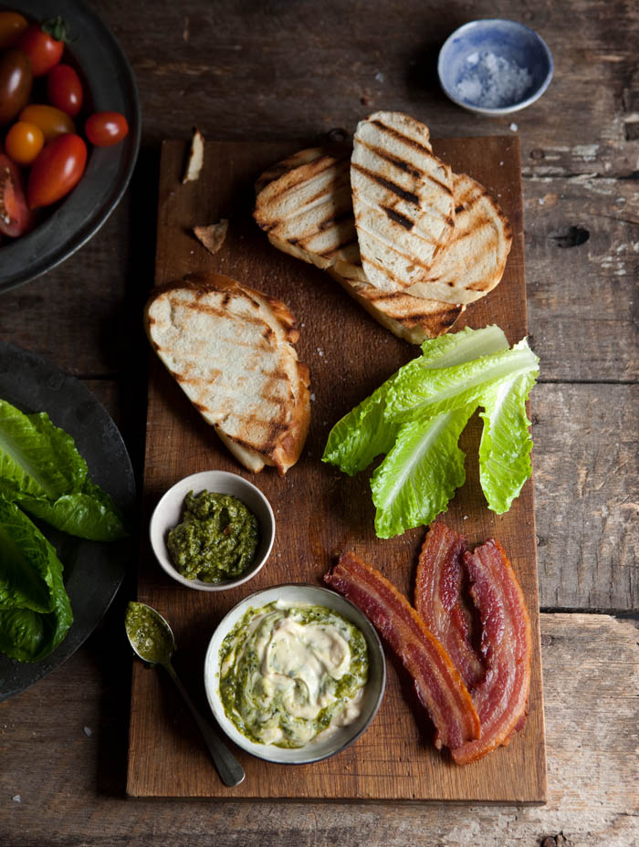 BLT with pesto mayo