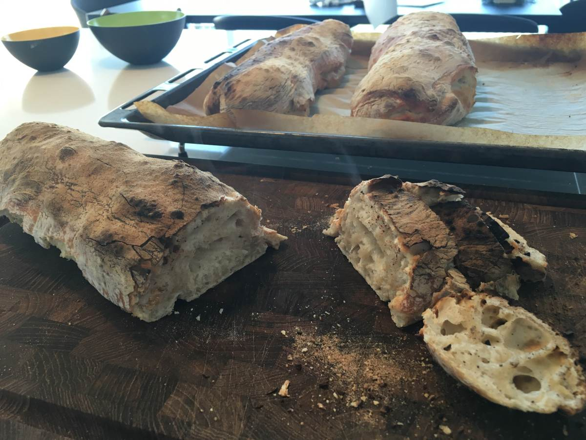 Verdens bedste ciabattabrød med store huller...