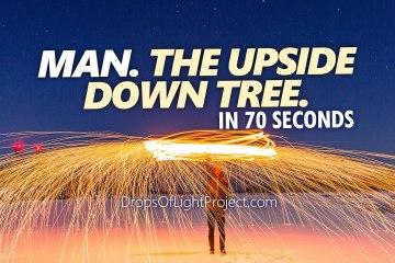 Man. An Upside Down Tree. (70 Sec)