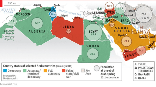 arab spring graphic