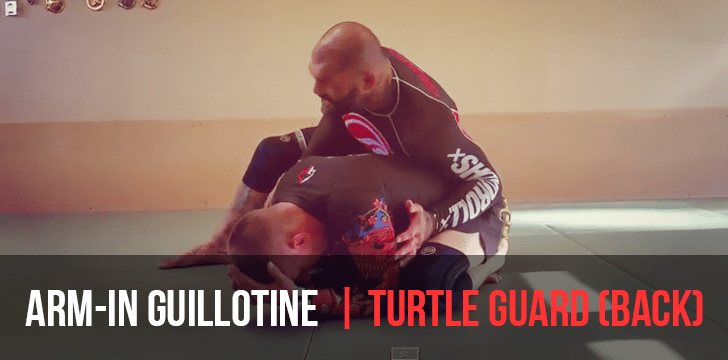 Arm in guillotine from turtle