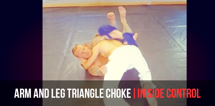 ARM AND LEG TRIANGLE CHOKE | IN SIDE CONTROL