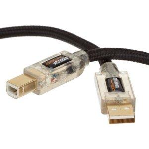 AmazonBasics abgeschirmtes USB 2.0-Kabel A-Stecker auf B-Stecker, mit beleuchteten Steckern (1,8 m)