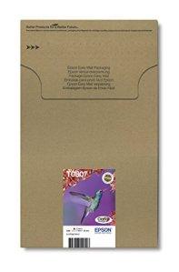 Epson T0807 Tintenpatronen Kolibri, Multipack, 6-farbig (Frustfreie Verpackung)