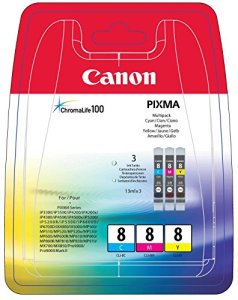 Canon CLI-8 C/M/Y Tintenpatronen (3-er Pack; 3x13ml) cyan/magenta/gelb
