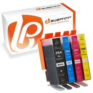 4 BUBPRINT Druckerpatronen kompatibel für HP 364 XL 364XL Set mit Chip und Füllstand